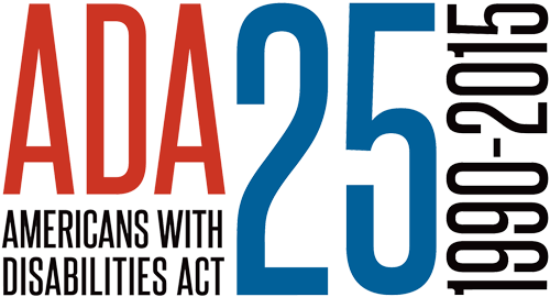 The logo of the Americans with Disabilities Act 25th anniversary celebration (1990-2015)